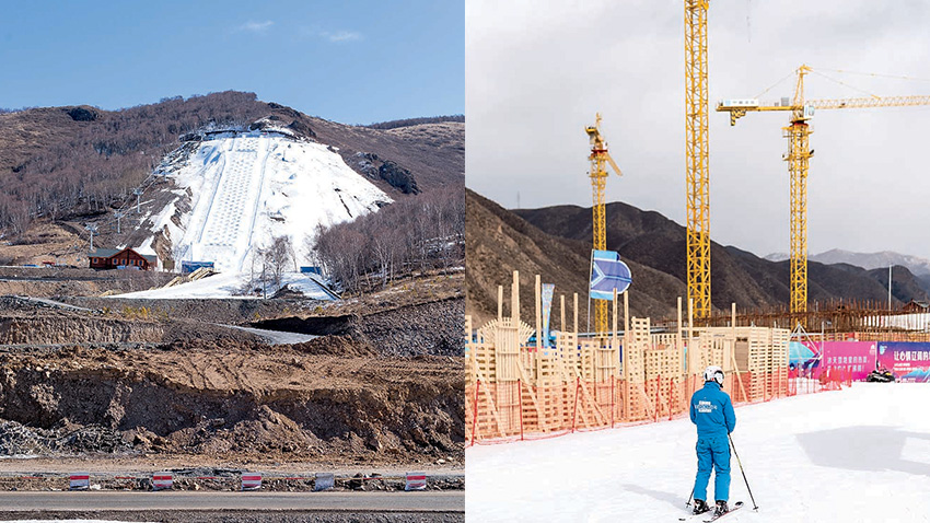 construction station de ski chine
