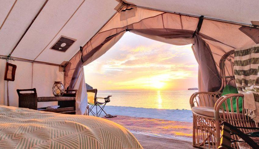 tente de luxe sur la plage
