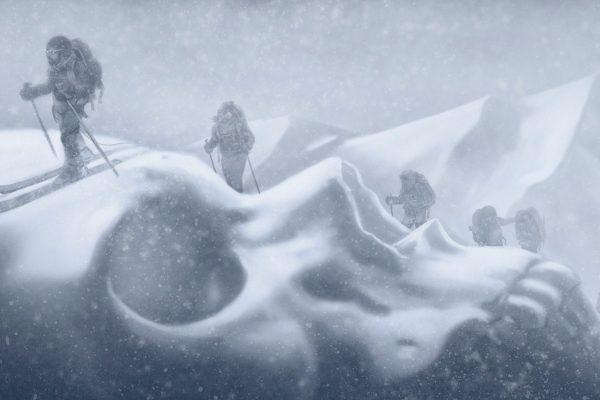Illustration de la tragédie d'Arolla, dans les Alpes, sur la Haute Route entre Chamonix et Zermatt