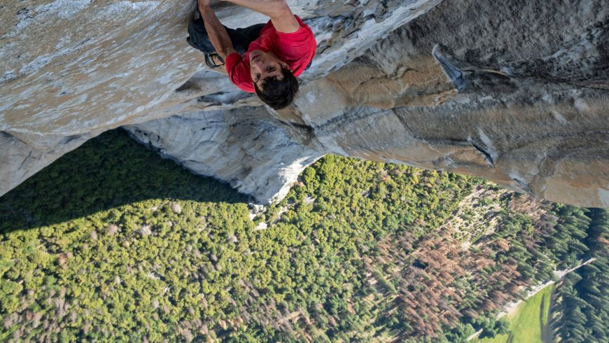 Alex Honnold en solo dans El Capitain, Parc National du Yosemite