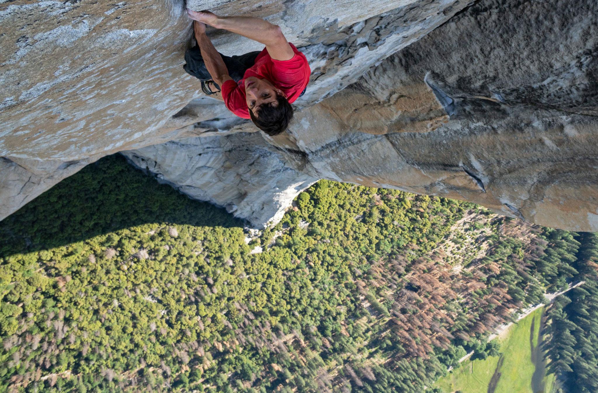 Alex Honnold en solo dans El Capitain, Parc National du Yosemite