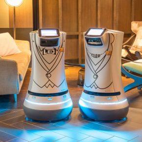Robot d'accueil dans un hotel