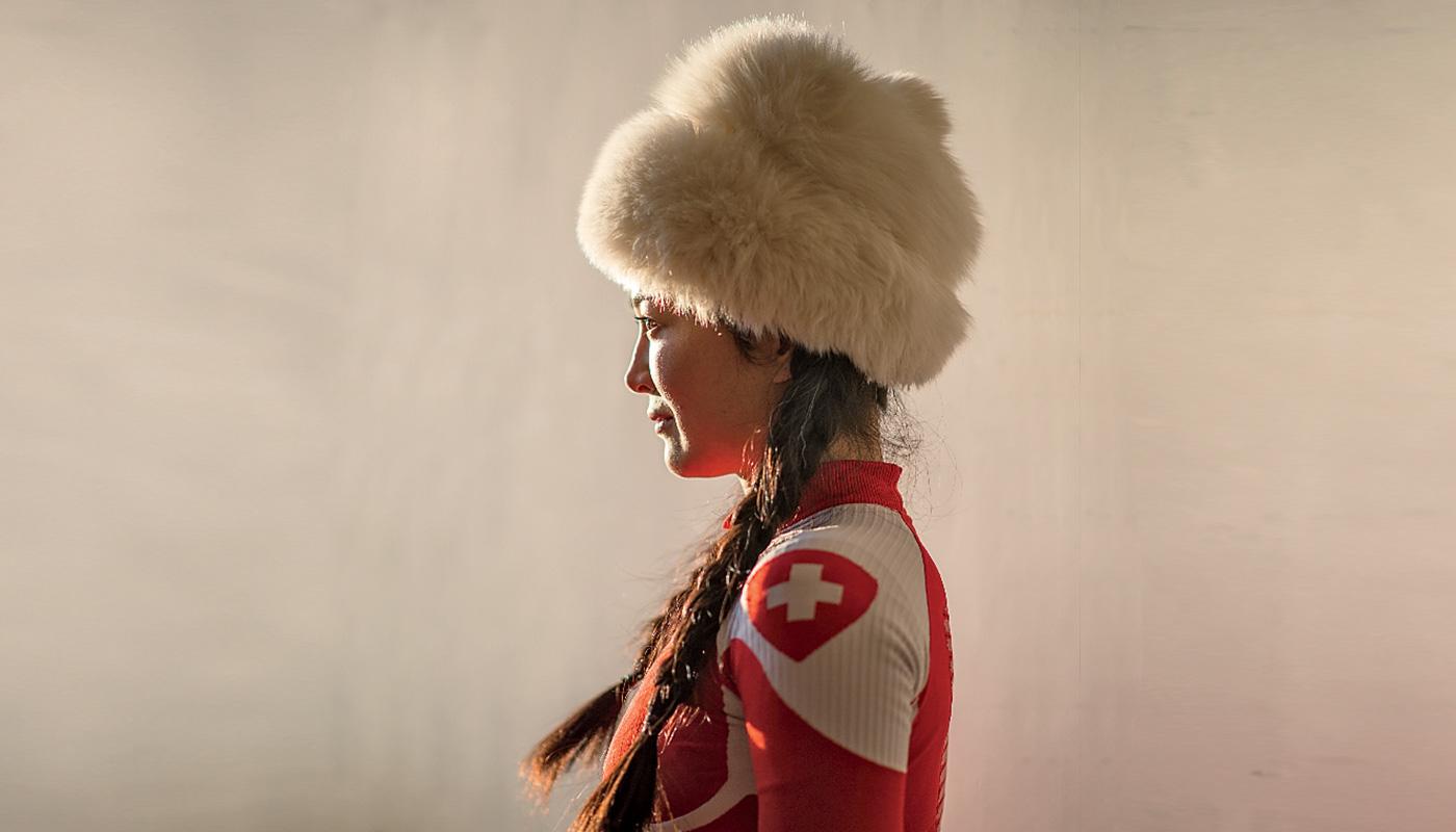 portrait skieuse chinoise