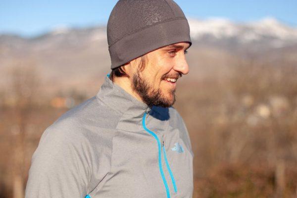 runner habillé pour une session en hiver