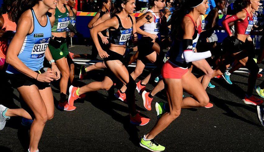 Femmes américaines au départ du marathon de New-York