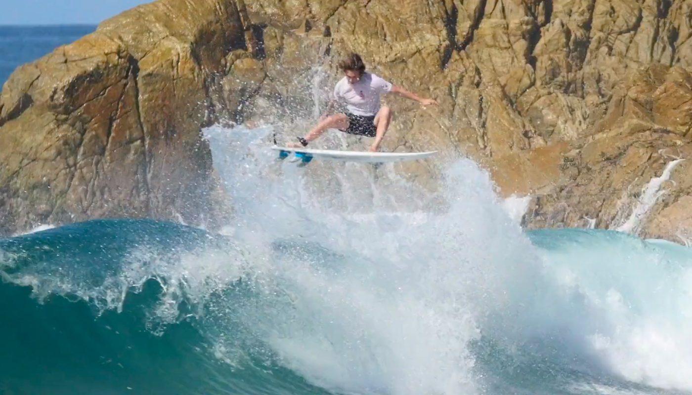 Session de surf de Shane Borland au Mexique, janvier 2019