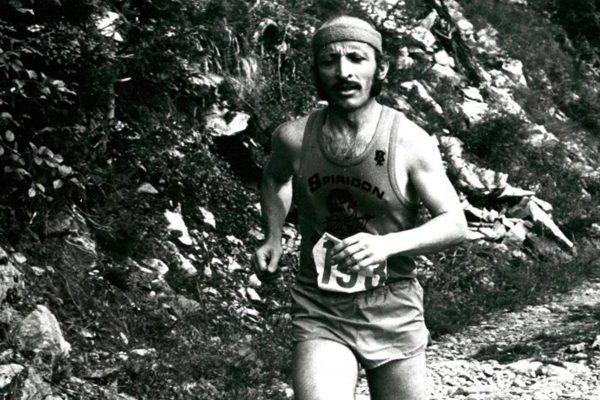 Photo Noel Tamini, coureur, en noir et blanc