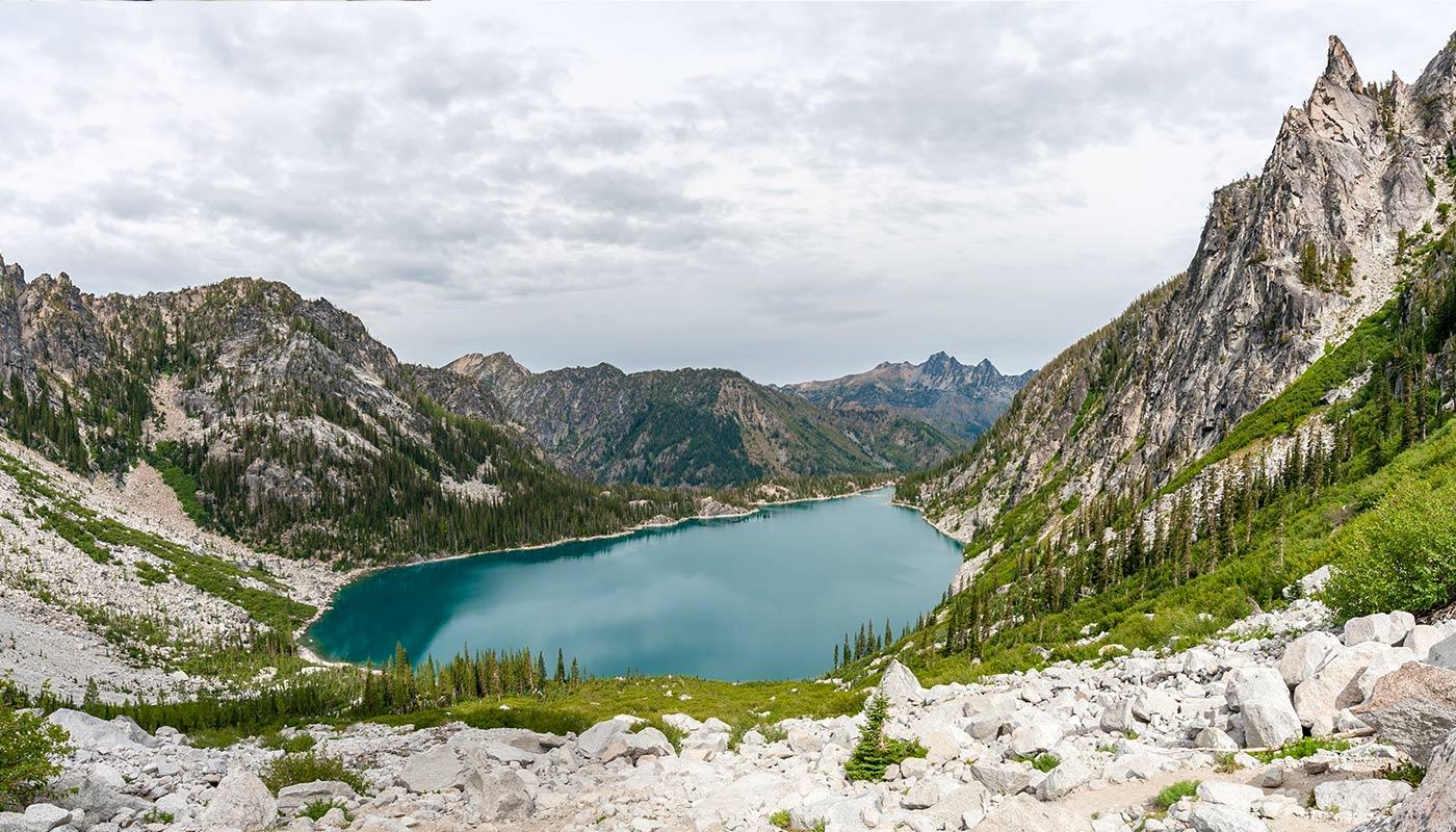 Lac de montagne aux USA
