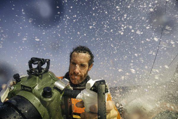Le matériel du photographe Amory Ross sur la Volvo Ocean Race