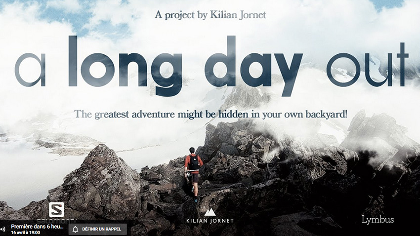 "Affiche de ""A Long Day Out"" de Kilian Jornet"