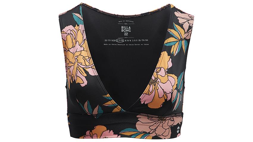 Soutien-gorge Plunging Billabong noir avec des fleurs