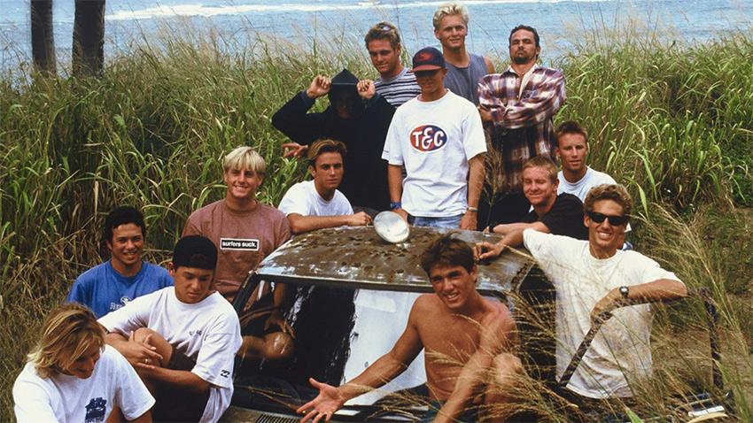 Les surfeurs du documentaire Momentum Generation de HBO