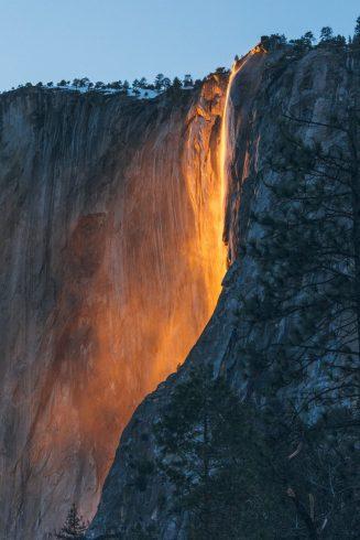 La cascade Horsetail du parc Yosemite