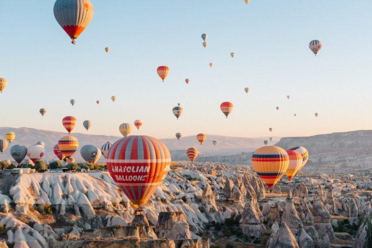 Des Montgolfières en Cappadoce
