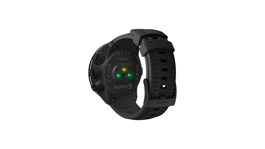 Le capteur de fréquence cardiaque au poignet de la Suunto 9.