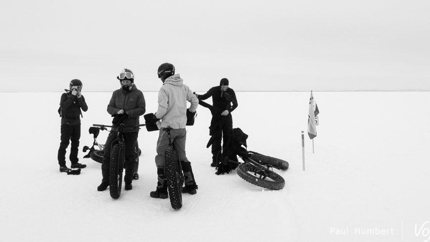 Traversée du Lac Saint-Jean en fatbike au Québec