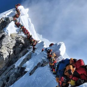 Embouteillage sur l'Everest
