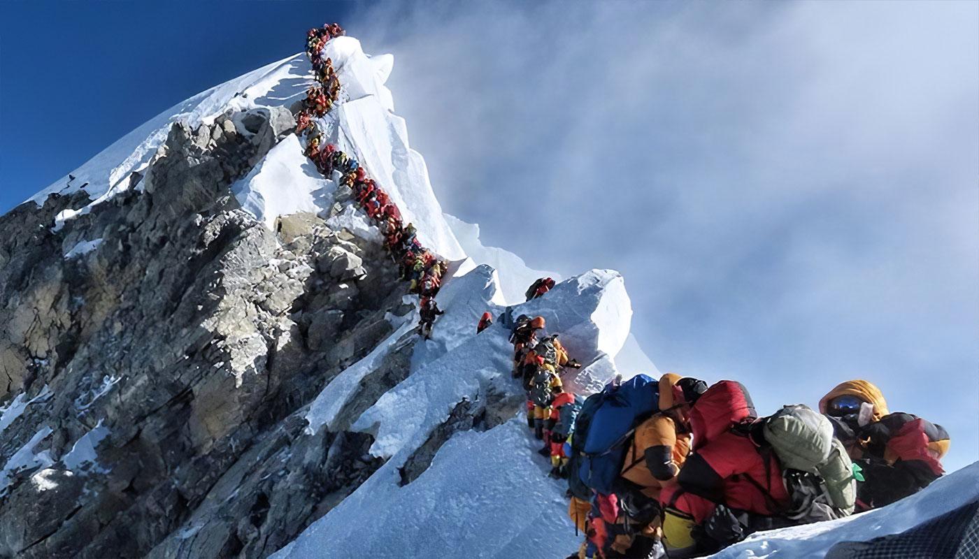 Embouteillage sur l'Everest