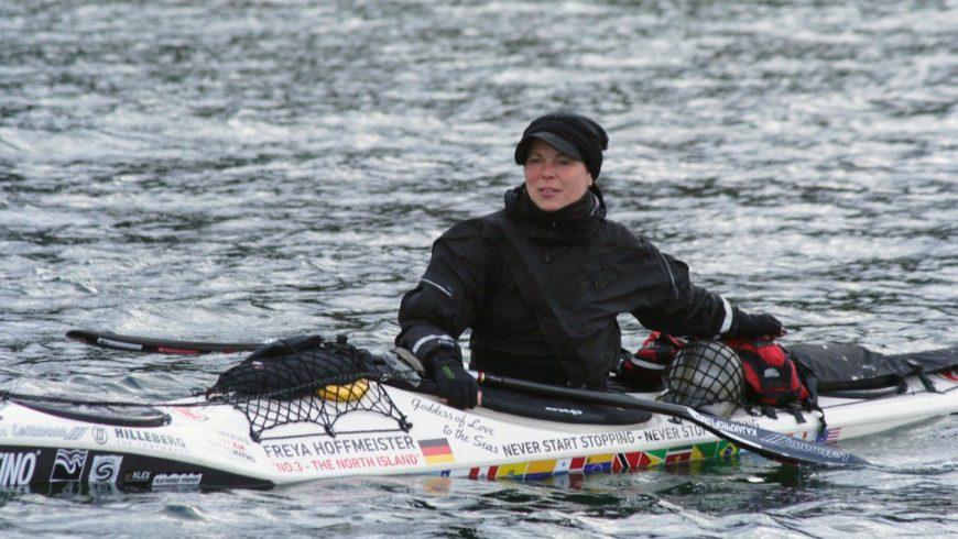 Freya Hoffmeister lors de son aventure sur la côte ouest nord américaine.