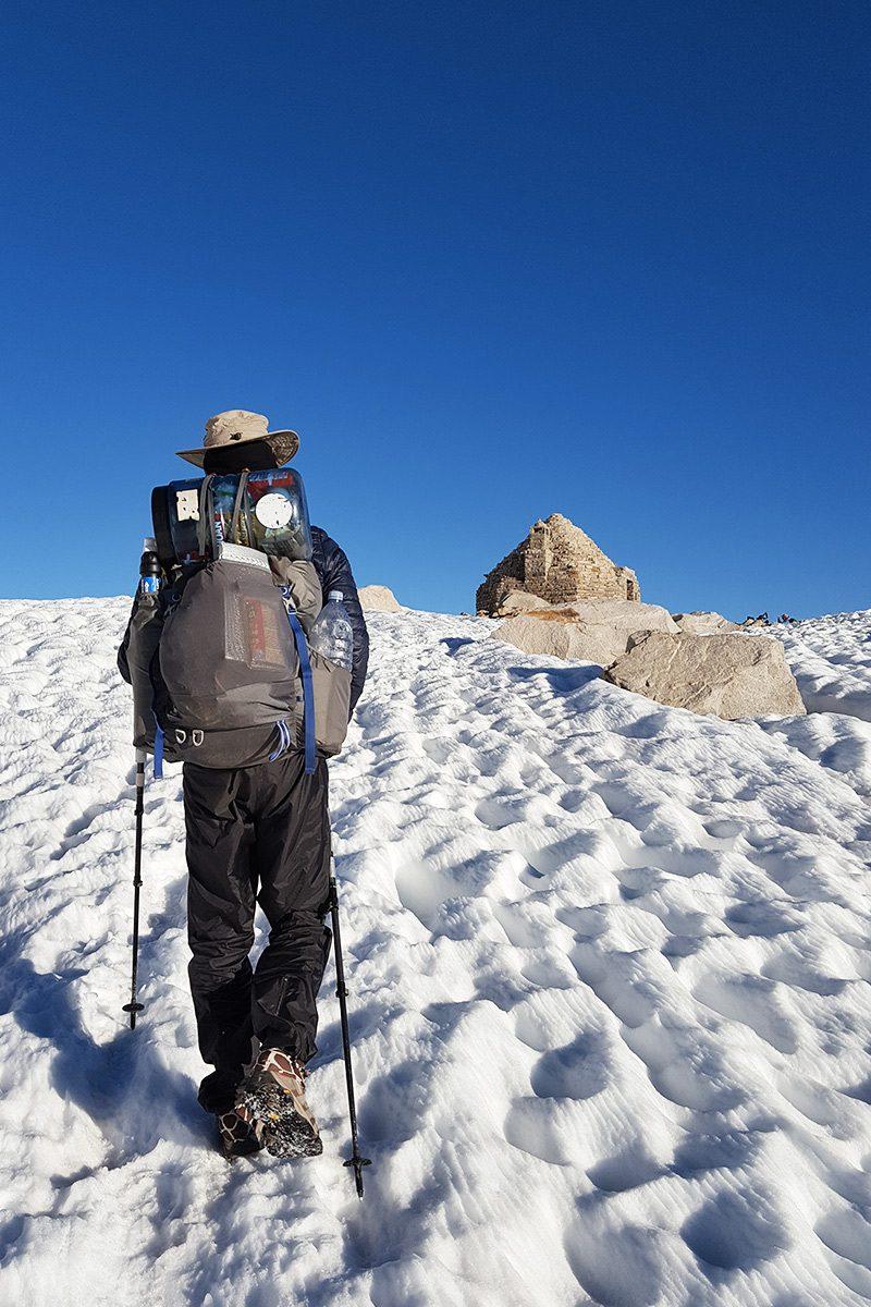 Muir Pass, mi. 838 - Passage sans difficulté d'un des cols emblématiques de la Sierra, nommé en hommage au naturaliste John Muir.