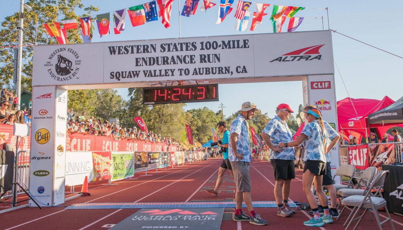 Ligne d'arrivée de la Western States 100-Mile Endurance Run