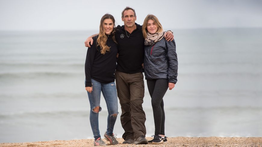 Mike Horn et ses deux filles Jessica et Annika