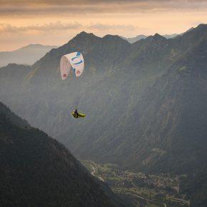 Benoit Outters en plein vol sur la X-Alps 2017