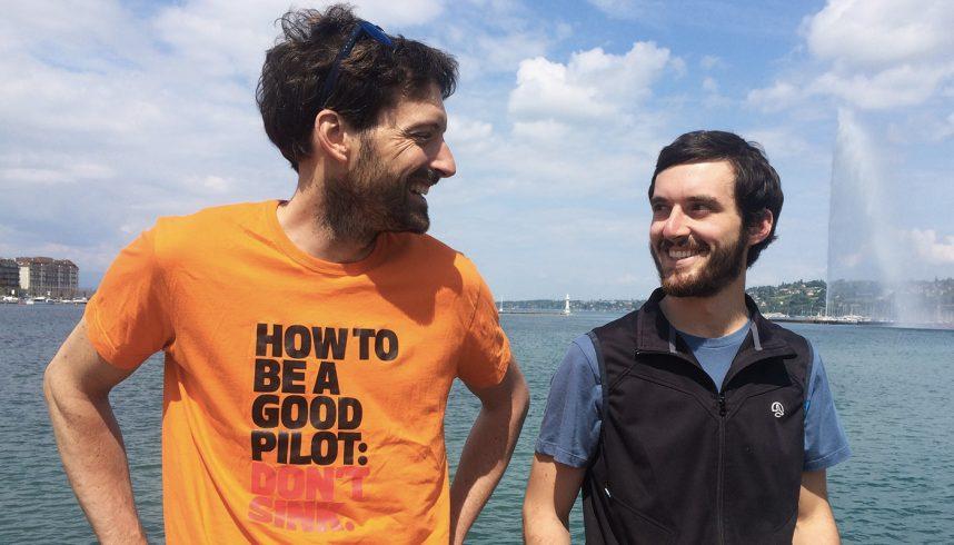 Ludovic Vulliemin (G) et Nicolas Jacquod, à Genève, le 21 mai 2019.