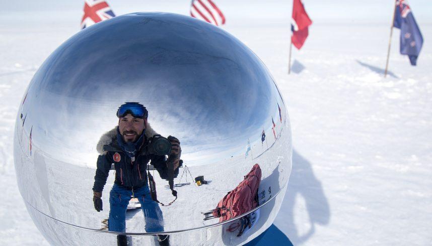 Matthieu Tordeur au pôle Sud