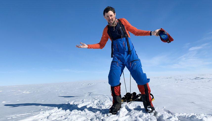 Matthieu Tordeur en Antarctique