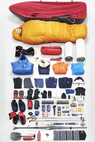 Le matériel de Matthieu au pôle Sud.