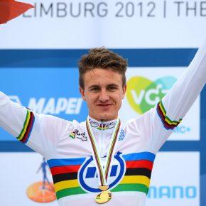 Oskar Svendsen sur un podium