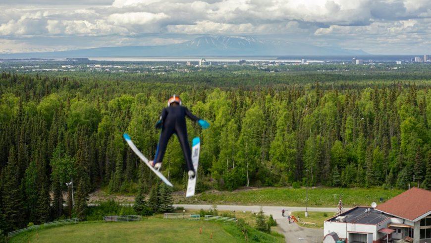 Saut à ski en Alaska