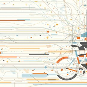 Illustration cycliste Strava