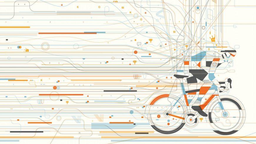 Illustration cycliste Strava