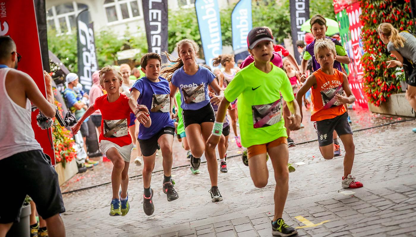 Course enfants au Montreux Trail Festival