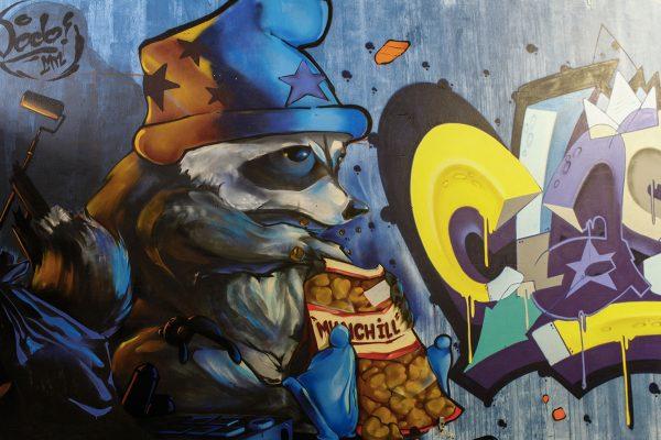 Fresque murale de Dodo à Annecy