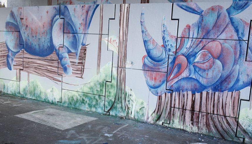 Fresque murale de Gawd à Annecy