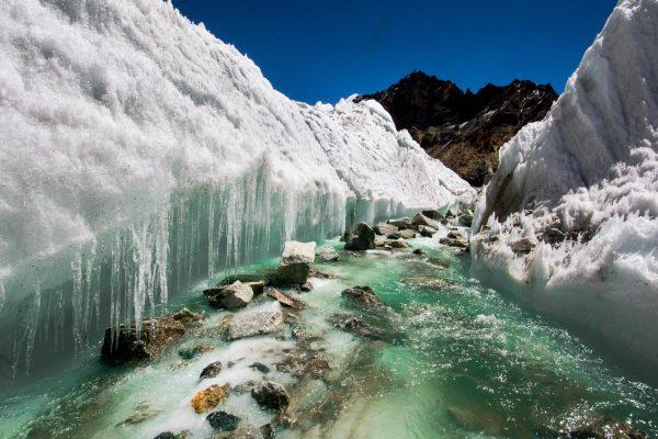 Fonte des glaciers de l'Himalaya