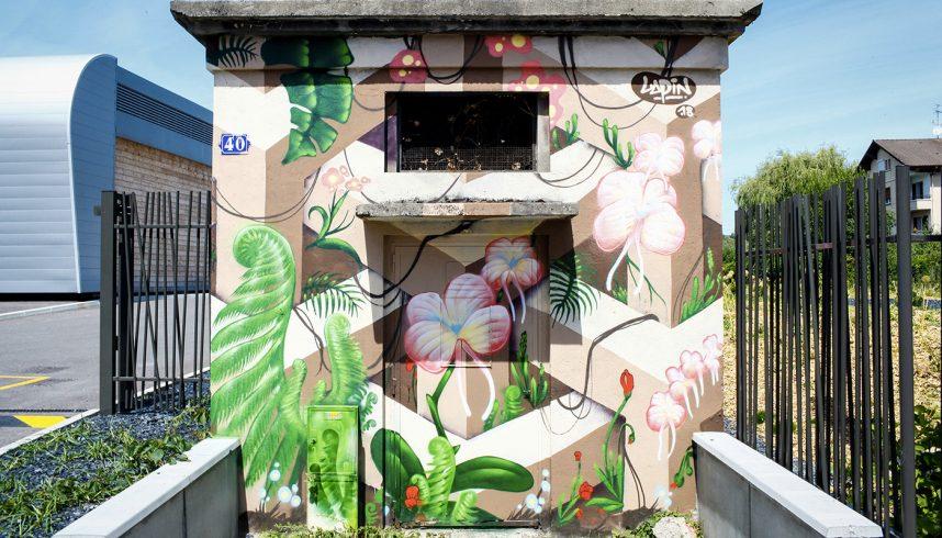 Fresque murale de Lapin à Annecy