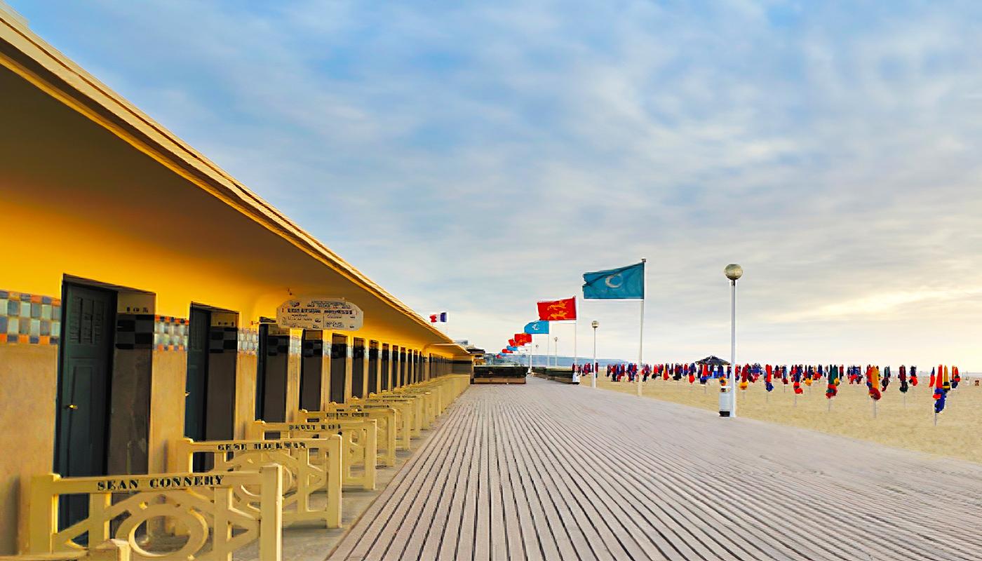 Vue sur une plage de Deauville