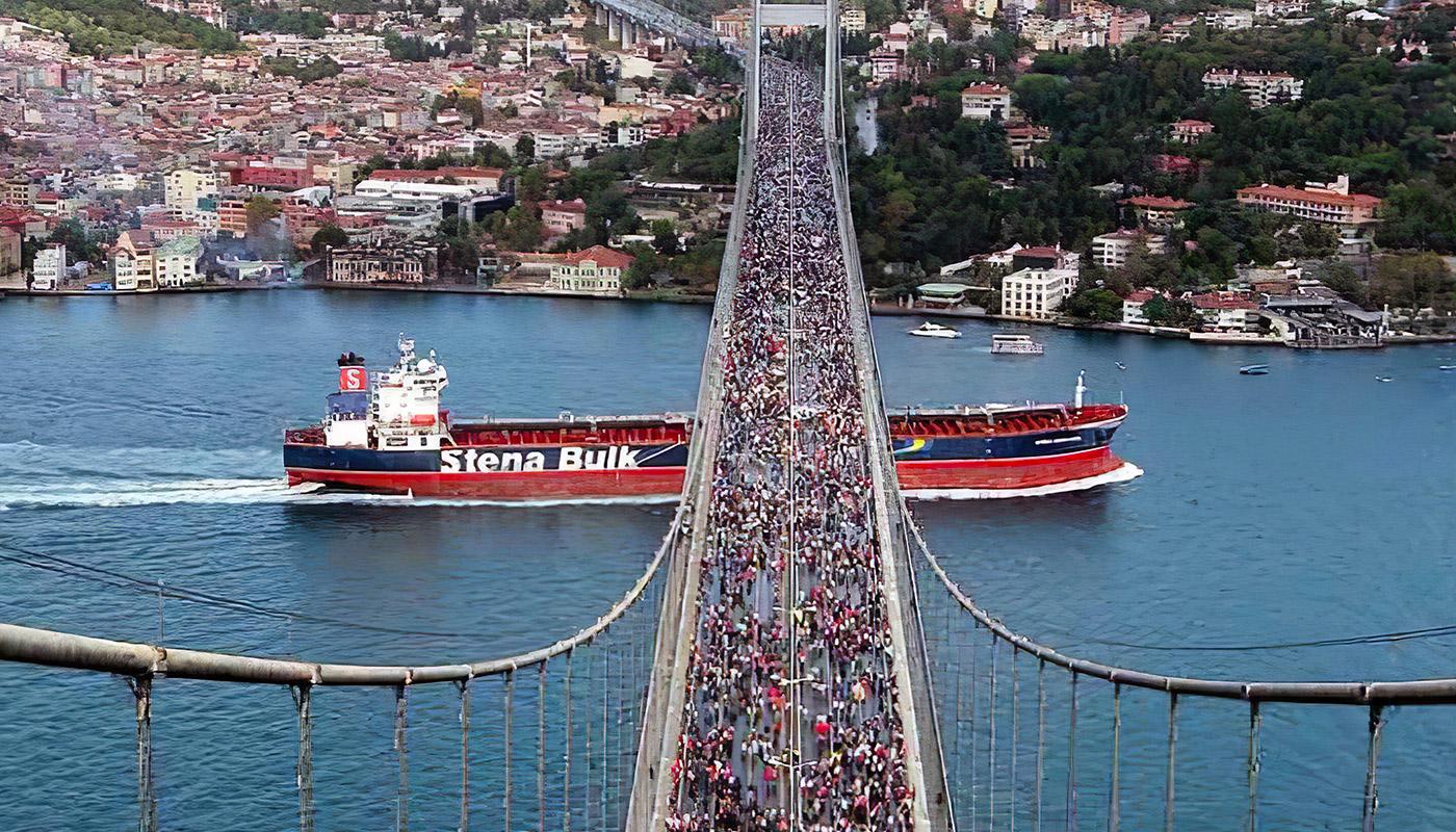 Le pont qui relie l'Europe et l'Asie