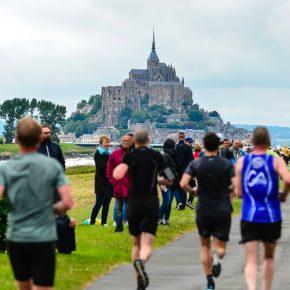 Vue sur le Mont Saint Michel depuis la côte