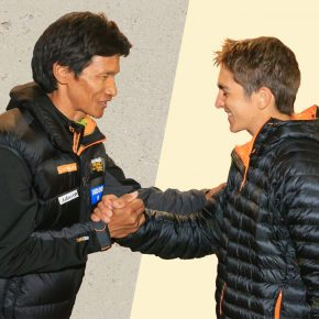 Dawa Sherpa et Xavier Thevenard