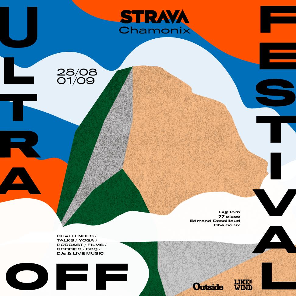 Affiche festival Strava UTMB 2019