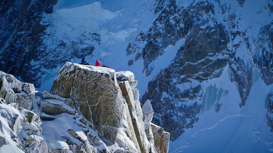 Alpinistes au sommet
