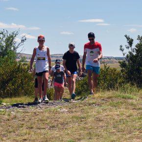 Jour de stage sur les Causses à l'Ecole de Trail de Millau