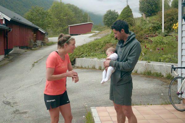 Emelie Forsberg, Kilian Jornet et leur fille Maj