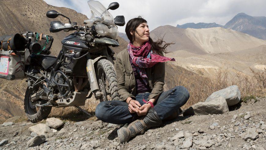 Mélusine Mallender au Népal.