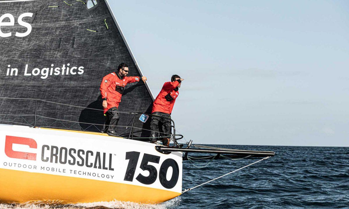 Aurélien Ducroz et Louis Duc à bord de Crosscall - Chamonix